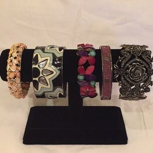 Lot of 5 Charming Charlie Bangle Bracelets